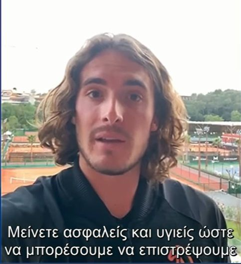 A message from Stefanos Tsitsipas